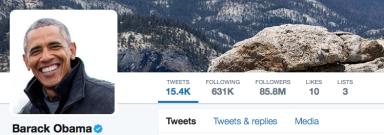Barack Obama's Twitter Snapshot